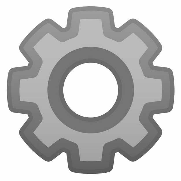 灰色的齿轮图案858071png图片免抠素材