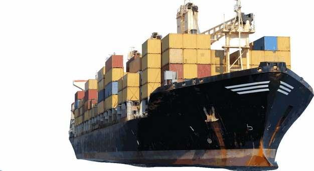 一艘集装箱货轮巨型轮船841705png图片免抠素材