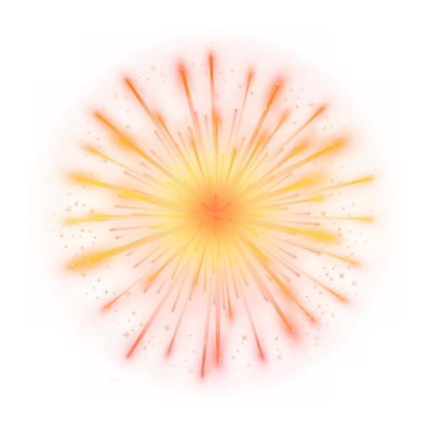 绽开的红黄色烟花礼花效果939817png图片素材