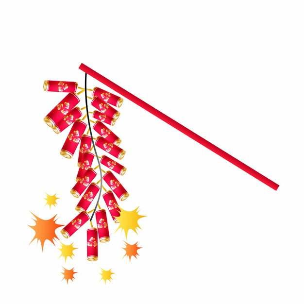 新年春节过年一串鞭炮喜庆装饰442042AI矢量图片素材