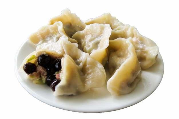 一碟饺子水饺传统美食928006png图片素材