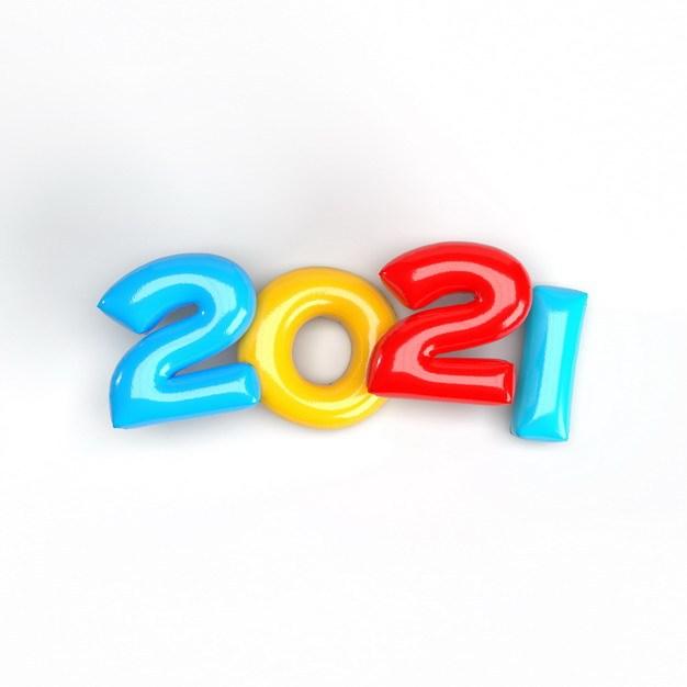 糖果色水晶风格2021年立体艺术字体327770免抠图片素材 字体素材-第1张