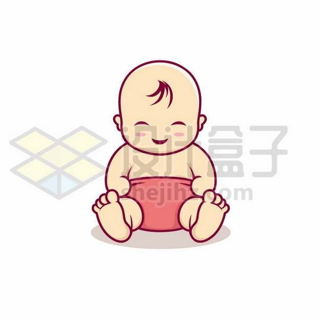 可爱的卡通宝宝婴儿手绘插画204495矢量图片免抠素材