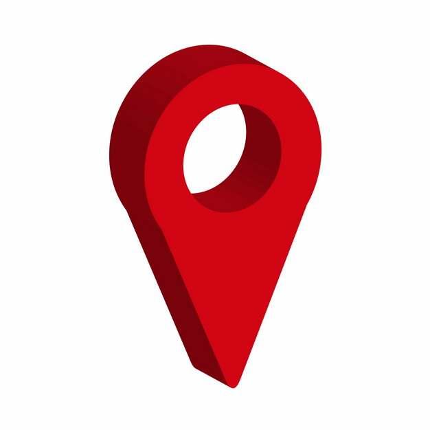 3D立体红色定位标志492800免抠图片素材