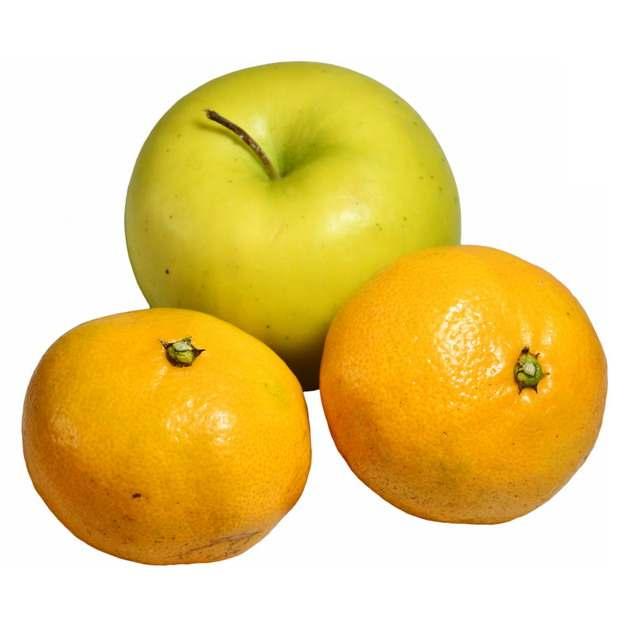 青苹果和两颗橘子302395图片素材