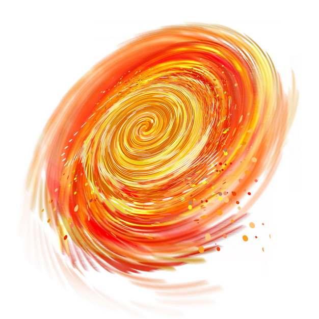 红黄色的银河系漩涡星系669796png图片素材