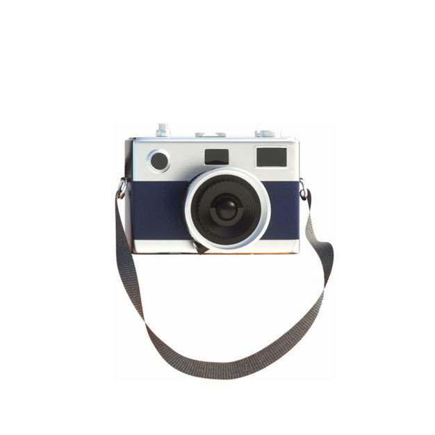 一款带挂绳的复古风格单反照相机138946png图片素材