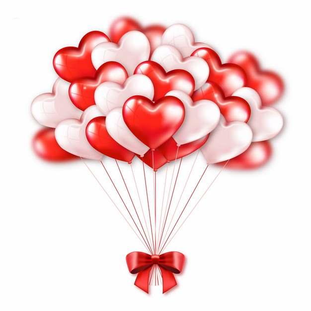 白色和红色气球和蝴蝶结装饰944872图片素材