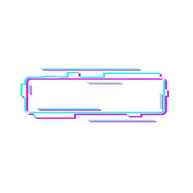 故障风多边形蓝红色边框文本框标题框447578png图片素材