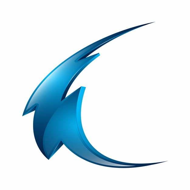 创意蓝色闪电立体科技风格logo设计元素253101图片免抠素材