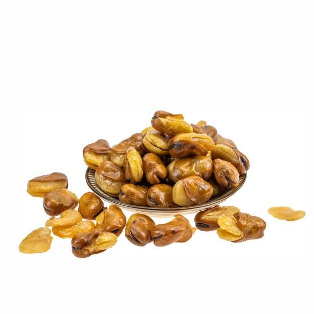 一大盘油炸蚕豆美味零食497033免抠图片素材