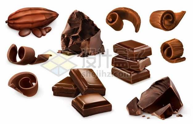各种美味的巧克力卷326382图片免抠矢量素材