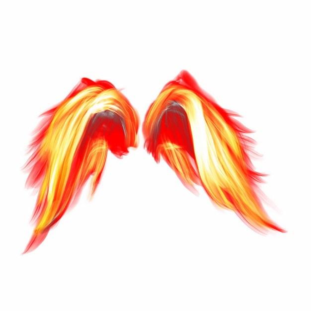 抽象火焰组成的天使翅膀798104png图片素材 效果元素-第1张