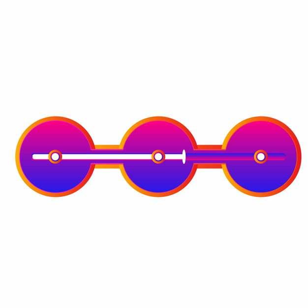紫红色渐变色风格圆形电商PPT进度图表682114免抠图片
