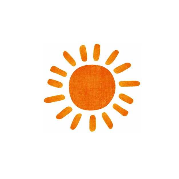 红色涂鸦风格卡通太阳手绘插画279014png图片素材