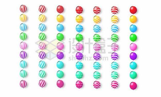 63款彩色气球738398eps矢量图片素材
