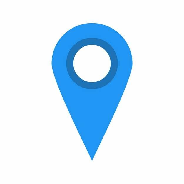 扁平化风格蓝色定位图标373752免抠图片
