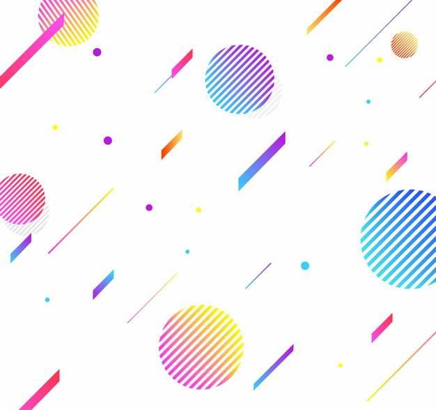 彩色渐变色多边形圆形图案装饰742903免抠图片