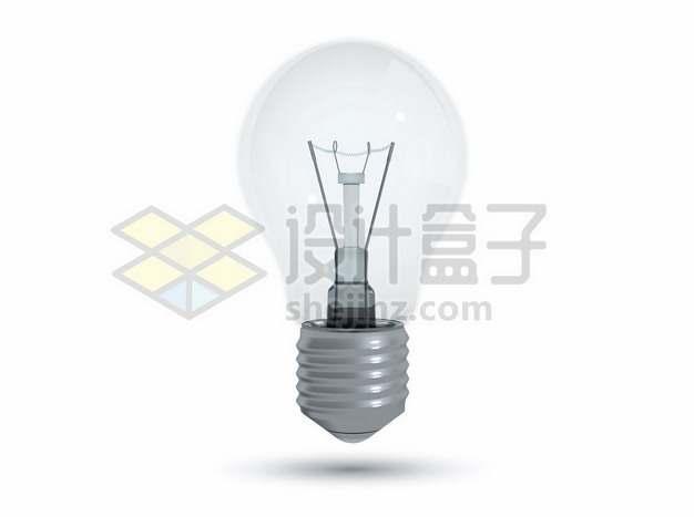 一个逼真的电灯泡白炽灯960791图片免抠矢量素材