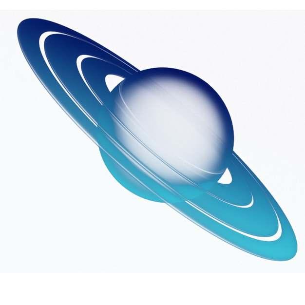 蓝色的半透明土星和土星光环152743图片素材