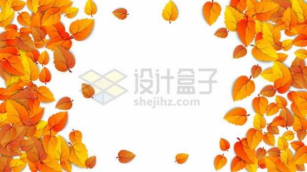 秋天飘落的黄色树叶落叶装饰862932图片免抠矢量素材