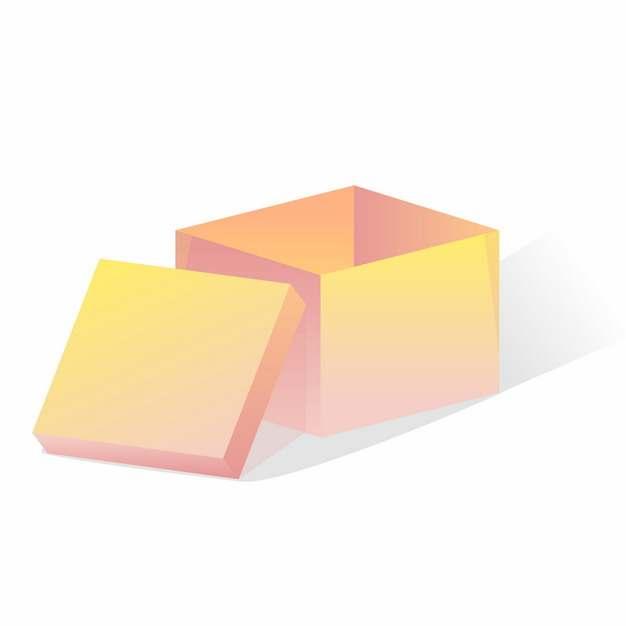打开的渐变色电商盒子箱子719334免抠图片