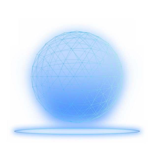 蓝色线条组成的发光圆球科技风格882635图片素材