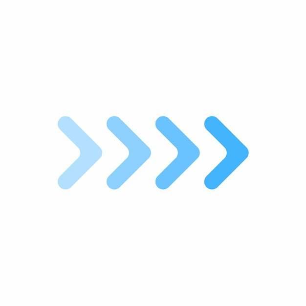 渐变色风格的蓝色方向箭头480153图片素材