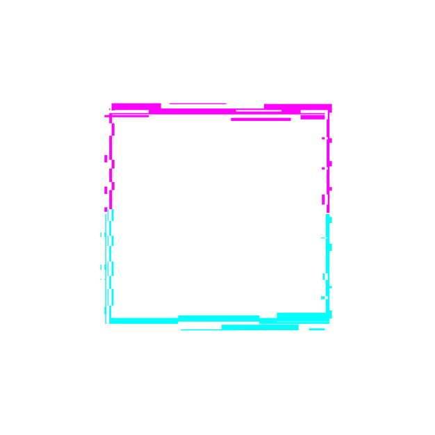 故障风蓝红色方框边框文本框197839png图片素材