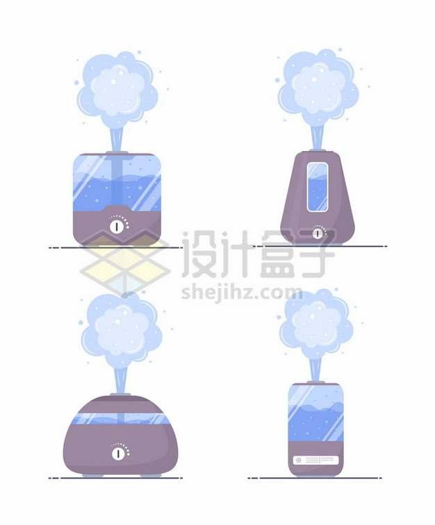 4款扁平化风格空气加湿器243607矢量图片免抠素材