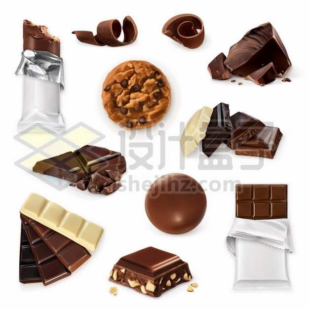 各种美味的巧克力美味美食563838图片免抠矢量素材