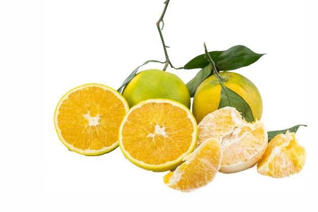 一堆剥皮的橘子和切开的桔子美味水果993086免抠图片素材