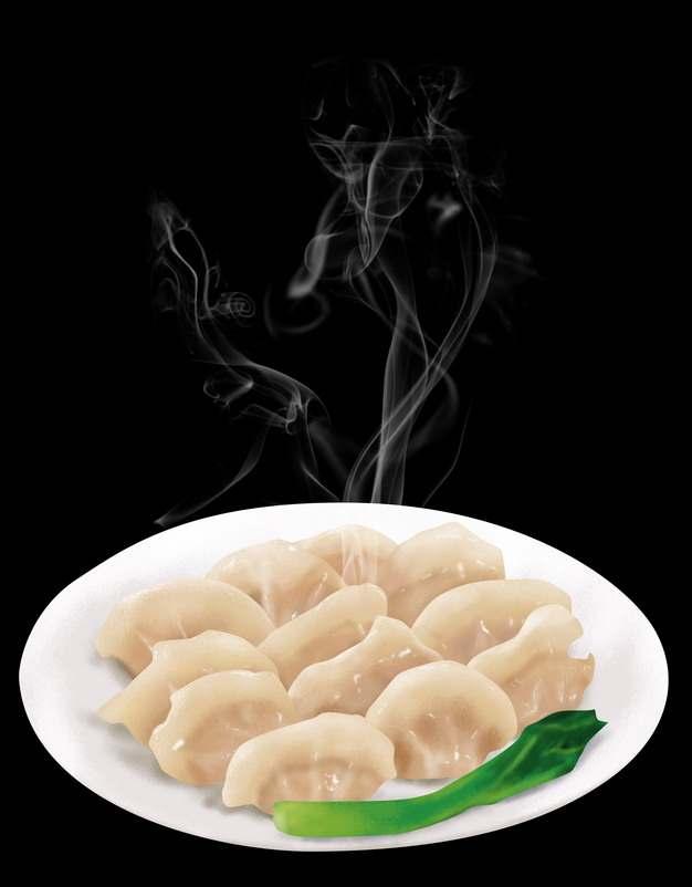 一碗冒着热气的青菜水饺美味饺子292769图片素材