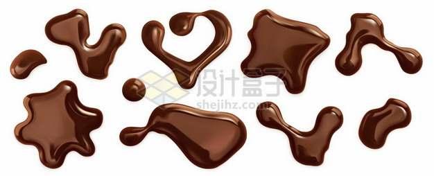 各种巧克力液体液滴效果图477970图片免抠矢量素材