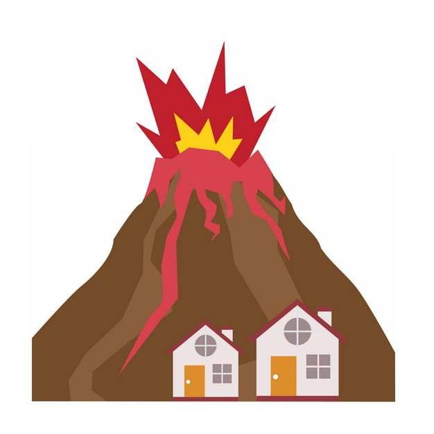 火山喷发自然灾害867661png图片素材