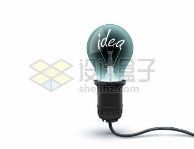 一盏电灯泡白炽灯钨丝是idea396413图片免抠矢量素材