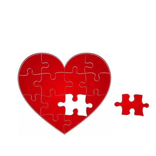 红心红色心形拼图916350图片素材