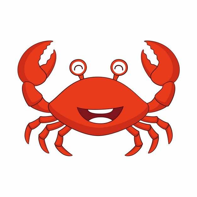 可爱的红色卡通螃蟹172612图片素材