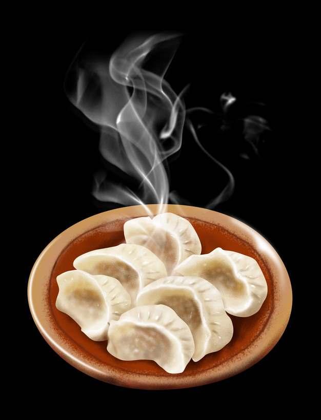 一碗冒着热气的水饺美味饺子625079图片素材