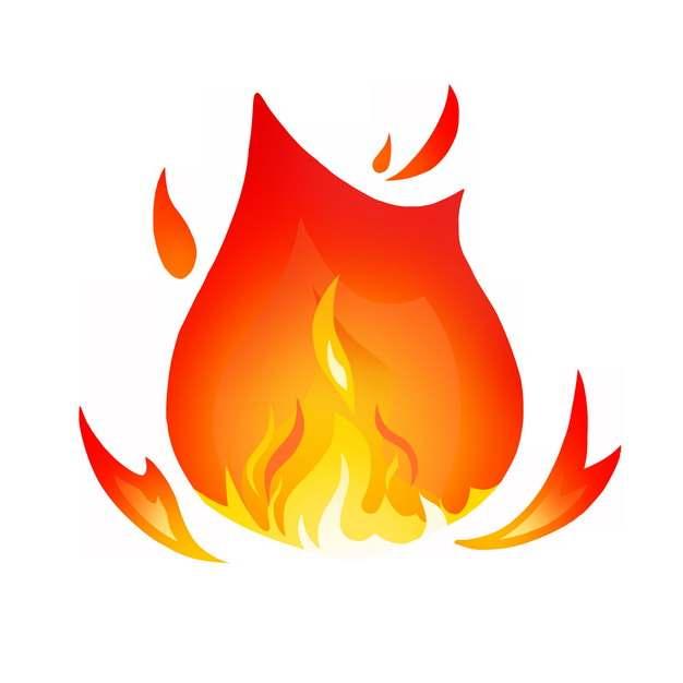 燃烧的卡通火焰火苗图案685884图片素材