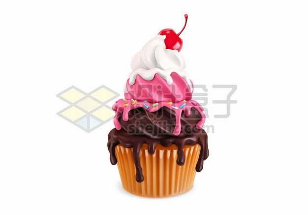 一只好看的奶油小蛋糕533492图片免抠矢量素材