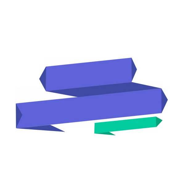紫色绿色多边形折线文本框标题框信息框305610png图片素材