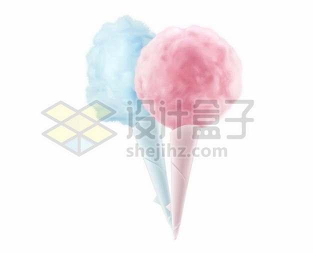 蓝色和粉红色的棉花糖346661图片免抠矢量素材
