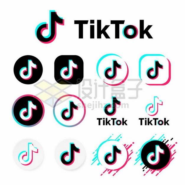 12款抖音TikTok标志logo275548矢量图片免抠素材
