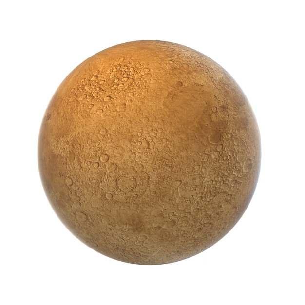 金色的火星或水星图片免抠素材708761