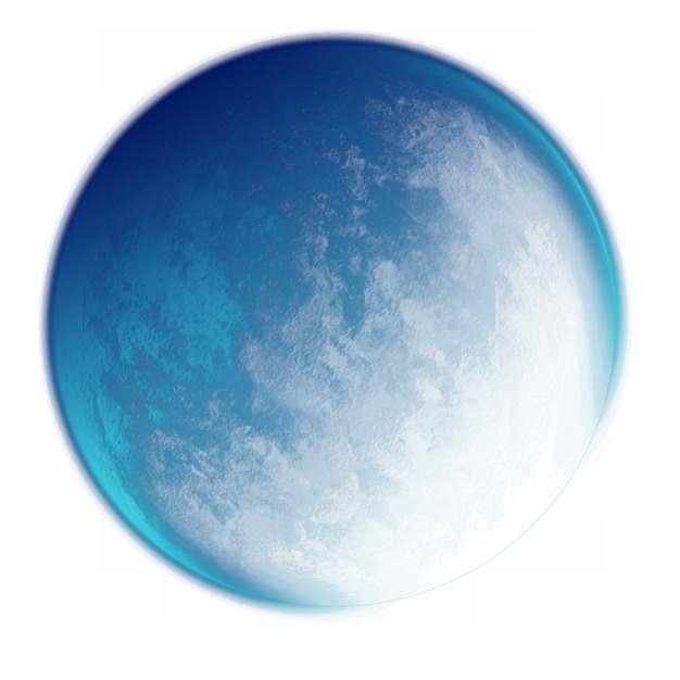 半透明蓝色外星球988096图片素材