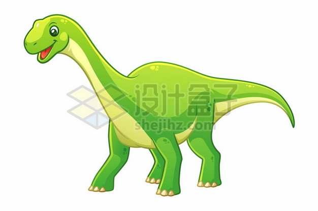 一只可爱的绿色卡通恐龙雷龙腕龙628022图片免抠矢量素材