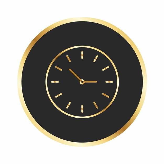 金色黑色钟表盘图案209132免抠图片素材