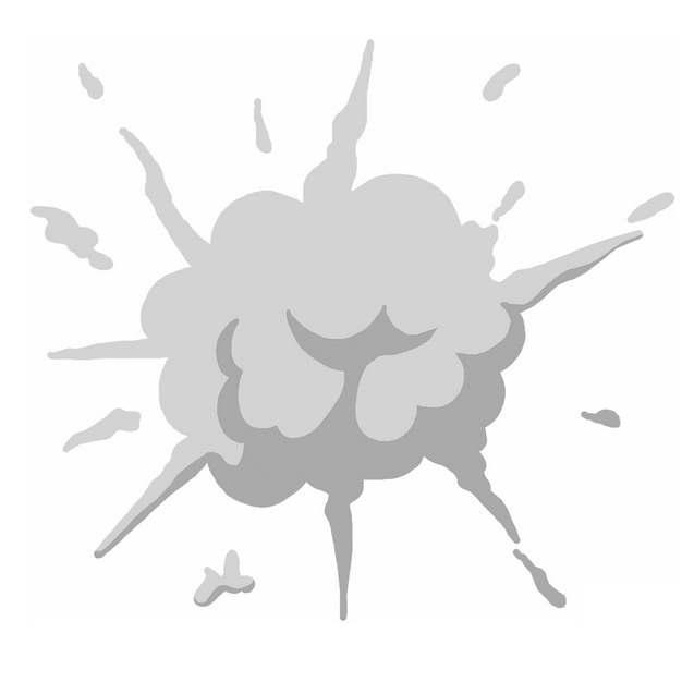 一缕灰色的烟雾冒烟爆炸效果图案996341PNG图片素材