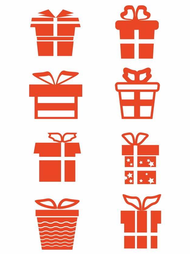 8款红色礼物图案555529图片素材